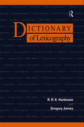 Dictionary of Lexicography by R. R. K. Hartmann