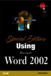 Special Edition Using Microsoft Word 2002, Adobe Reader by Bill Camarda