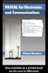 Pascal For Electronics And Communications by R G Meadows