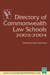 Directory of Commonwealth Law Schools 2003-2004