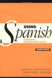 Using Spanish by R. E. Batchelor