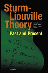 Sturm-Liouville Theory by Werner O. Amrein