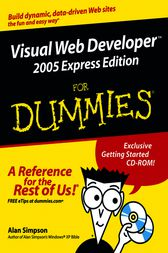 Visual Web Developer 2005 Express Edition For Dummies by Alan Simpson