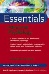 Essentials of Abnormal Psychology by Andrew R. Getzfeld