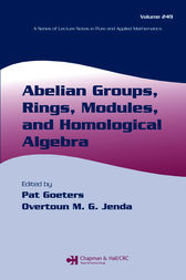 Abelian Groups, Rings, Modules, and Homological Algebra