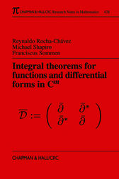 Integral Theorems for Functions and Differential Forms in C(m) by Reynaldo Rocha-Chavez