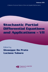 Stochastic Partial Differential Equations and Applications - VII by Giuseppe Da Prato