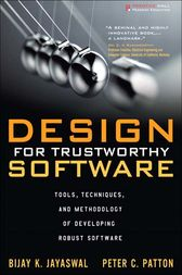Design for Trustworthy Software by Bijay K. Jayaswal