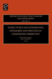 Public Ethics and Governance by Denis Saint-Martin