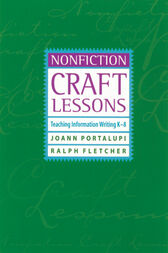Nonfiction Craft Lessons by JoAnn Portalupi
