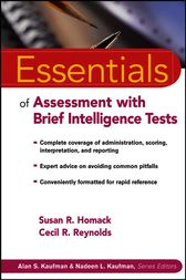 Essentials of Assessment with Brief Intelligence Tests by Susan R. Homack