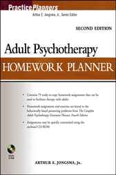 Adult Psychotherapy Homework Planner by Arthur E. Jongsma