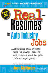 Real-Resumes for Auto Industry Jobs--