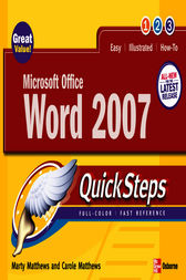Microsoft Office Word 2007 QuickSteps by Marty Matthews