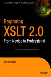 Beginning XSLT 2.0 by Jeni Tennison