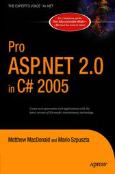 Pro ASP.NET 2.0 in C# 2005 by Matthew MacDonald