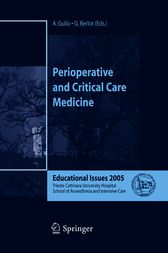 Perioperative and Critical Care Medicine by A. Gullo