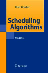 Scheduling Algorithms by Peter Brucker