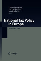 National Tax Policy in Europe by Krister Andersson