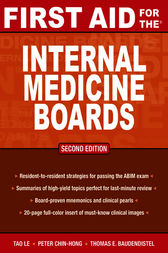 First Aid for the Internal Medicine Boards by Tao Le