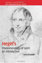 Hegel's 'Phenomenology of Spirit' by Larry Krasnoff