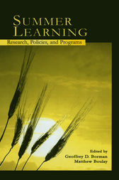 Summer Learning by Geoffrey D. Borman