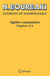 Algebre Commutative