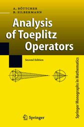 Analysis of Toeplitz Operators by Albrecht Böttcher
