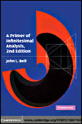 A Primer of Infinitesimal Analysis by John L. Bell