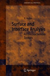 Surface and Interface Analysis by J. P. Toennies