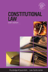 Constitutional Lawcards 6/e by Routledge