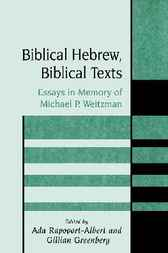 Biblical Hebrew, Biblical Texts by Ada Rapoport-Albert