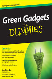 Green Gadgets For Dummies by Joe Hutsko