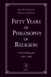 Fifty Years of Philosophy of Religion