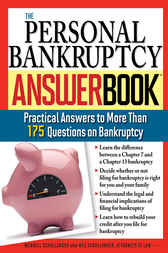 Personal Bankruptcy Answer Book by Wendell Schollander