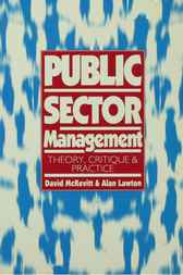 Public Sector Management by David McKevitt