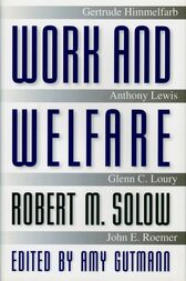 Work and Welfare: