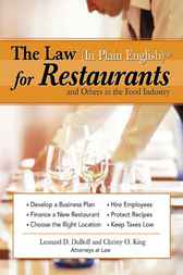 Law (in Plain English) for Restaurants and Others in the Food Industry