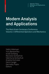 Modern Analysis and Applications by Vadim M. Adamyan