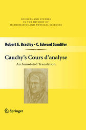 Cauchy's Cours d'analyse by Robert E. Bradley