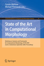 State of the Art in Computational Morphology by Cerstin Mahlow