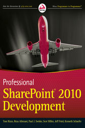 Professional SharePoint 2010 Development by Thomas Rizzo