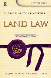 Key Cases Land Law, Second Edition by Judith Bray