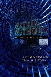Matrix Methods by Richard Bronson