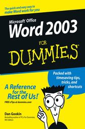 Word 2003 For Dummies by Dan Gookin