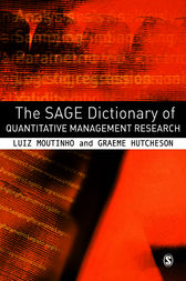 The SAGE Dictionary of Quantitative Management Research