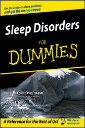 Sleep Disorders For Dummies by Max Hirshkowitz