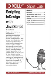 Scripting InDesign with JavaScript by Peter Kahrel