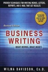 Business Writing by Wilma Davidson