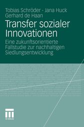 Transfer sozialer Innovationen by Tobias Schröder